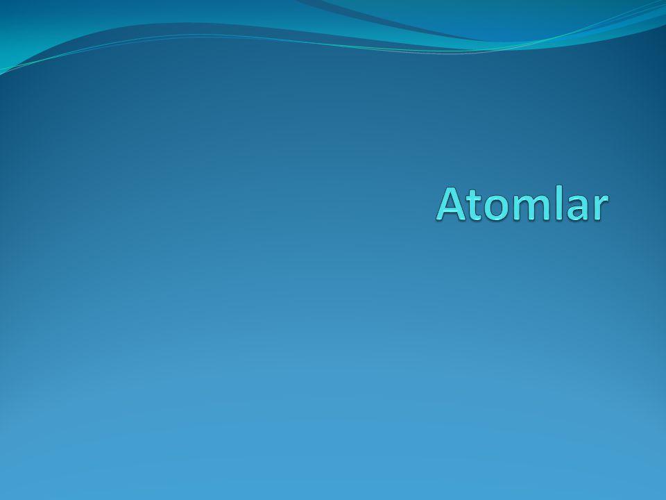Atomlar Eşya  malzeme  madde  element  atom  Temel parçacıklar (lepton ve kuarklar) 2