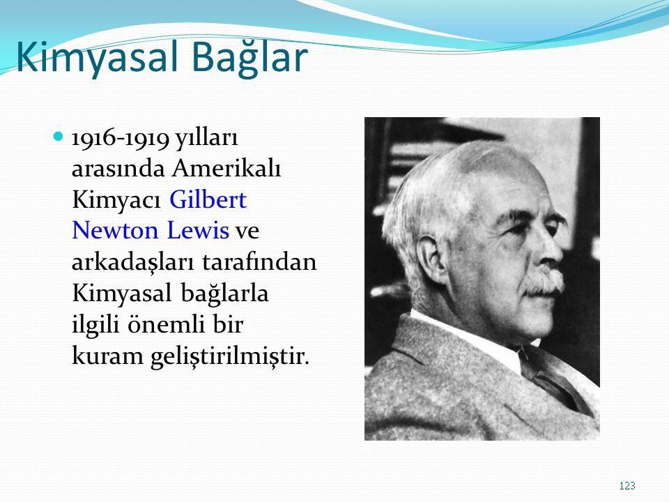 Kimyasal Bağlar 1916-1919 yılları arasında Amerikalı Kimyacı Gilbert Newton Lewis ve arkadaşları tarafından Kimyasal bağlarla ilgili önemli bir kuram