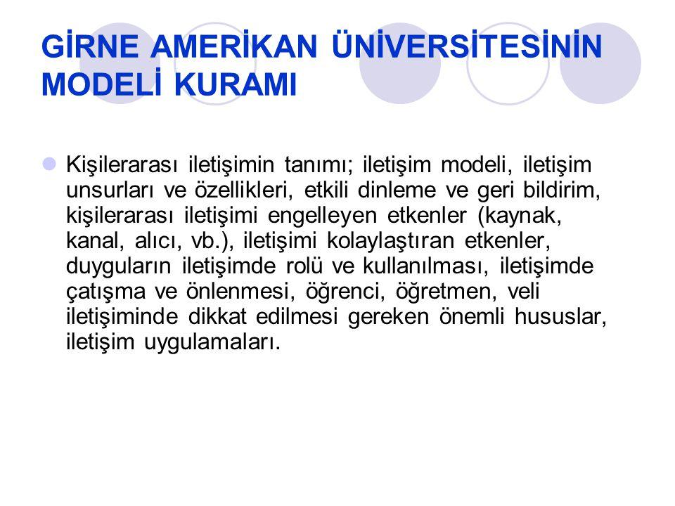 GİRNE AMERİKAN ÜNİVERSİTESİNİN LMS BİLGİSİ Girne Amerikan Üniversitesi Uzaktan Eğitim Merkezi, ders yönetim sistemi olarak Moodle ı seçmiştir.