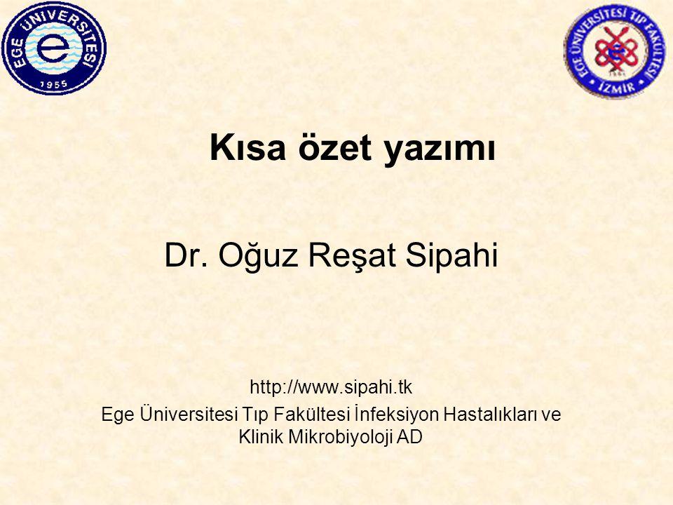 Tanımlar Kısa özet-abstrakt İngilizce –abstract- summary-synopsis Araştırma makalesi, tez, derleme, konferans konuşma metni ya da bir disiplini ilgilendiren herhangi derin analiz/metnin kısa özeti