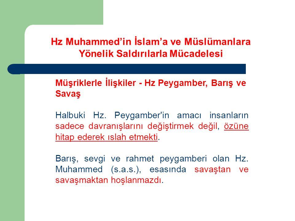 Müşriklerle İlişkiler - Hz Peygamber, Barış ve Savaş Kaynukâ ve Nadîroğulları, Medine'den çekip gitmeyi kabul etmişlerdir.