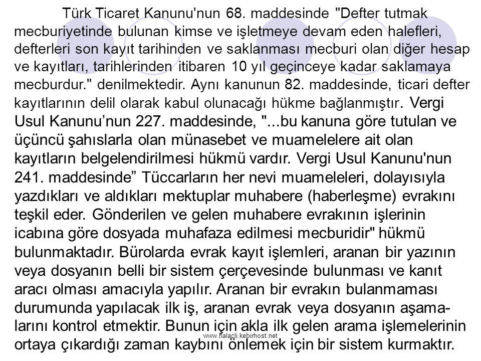 www.halacli.kebirhost.net Türk Ticaret Kanunu'nun 68. maddesinde
