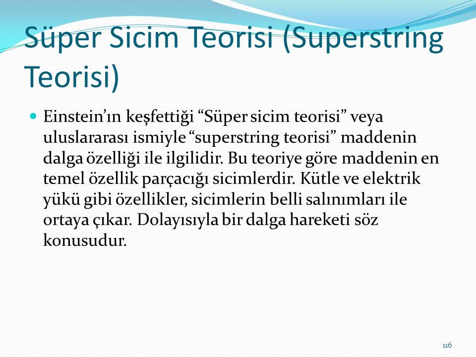 """Süper Sicim Teorisi (Superstring Teorisi) Einstein'ın keşfettiği """"Süper sicim teorisi"""" veya uluslararası ismiyle """"superstring teorisi"""" maddenin dalga"""