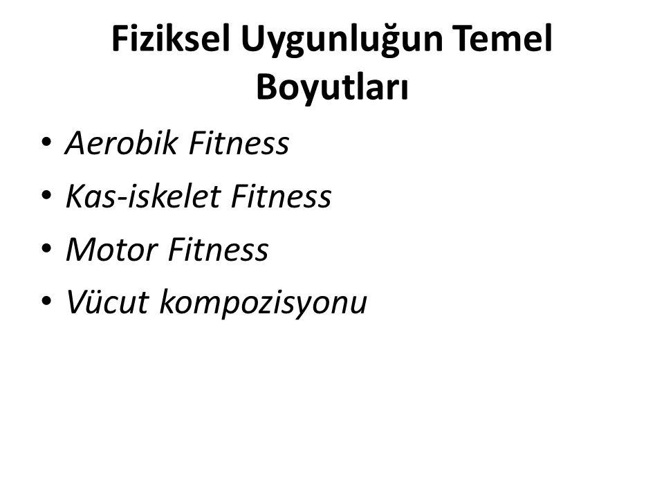 Fiziksel Uygunluğun Temel Boyutları Aerobik Fitness Kas-iskelet Fitness Motor Fitness Vücut kompozisyonu