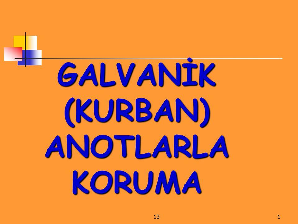 1312 GALVANİK (KURBAN) ANOTLARLA KORUMA Şekil 98.Yapay anodlar.