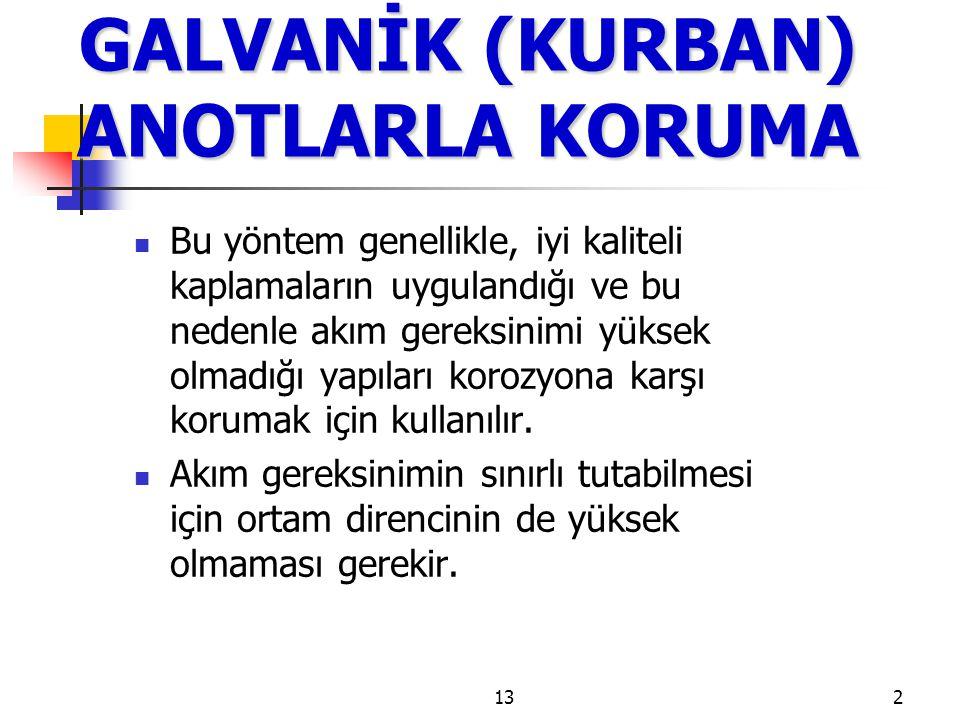 13 GALVANİK (KURBAN) ANOTLARLA KORUMA Şekil 99.