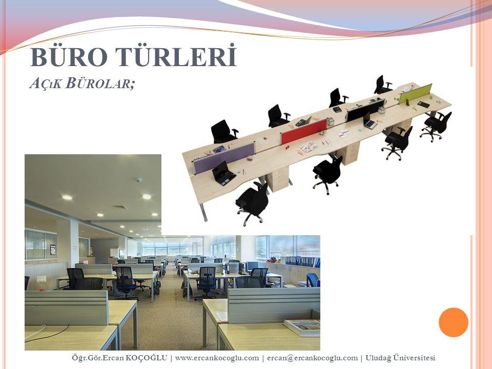 BÜRO TÜRLERİ A ÇıK B ÜROLAR ; Öğr.Gör.Ercan KOÇOĞLU   www.ercankocoglu.com   ercan@ercankocoglu.com   Uludağ Üniversitesi