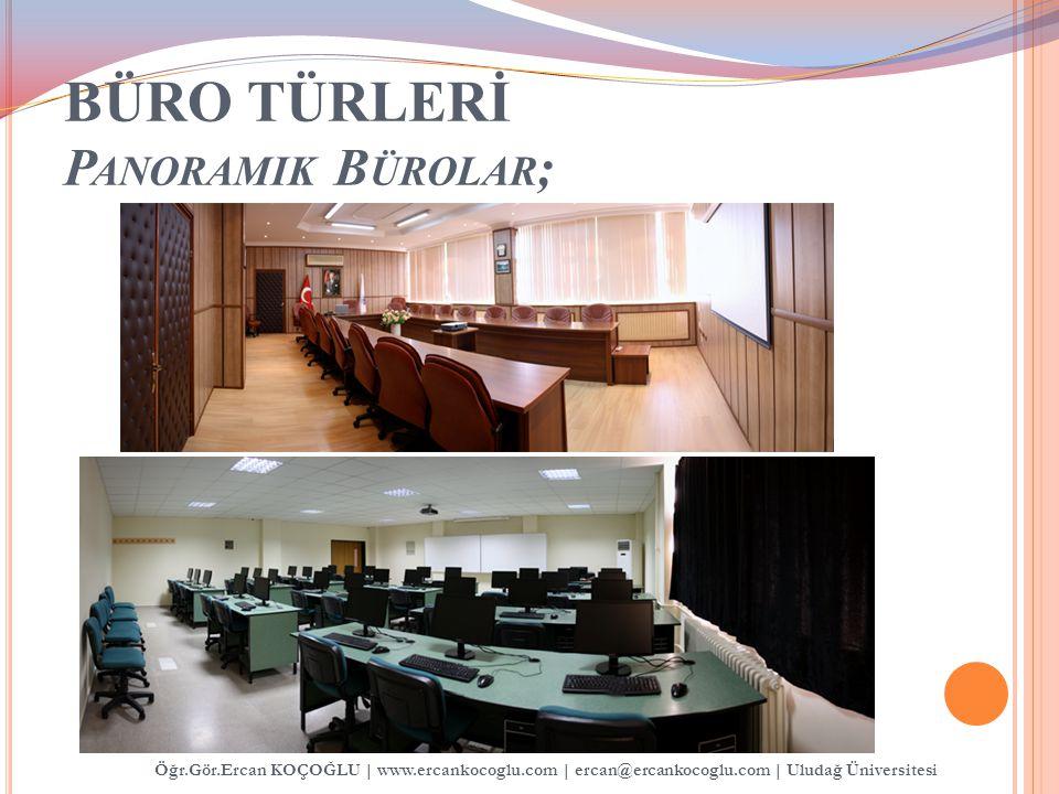BÜRO TÜRLERİ P ANORAMIK B ÜROLAR ; Öğr.Gör.Ercan KOÇOĞLU   www.ercankocoglu.com   ercan@ercankocoglu.com   Uludağ Üniversitesi