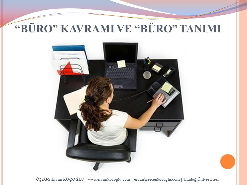 BÜRO KAVRAMI VE BÜRO TANIMI Öğr.Gör.Ercan KOÇOĞLU   www.ercankocoglu.com   ercan@ercankocoglu.com   Uludağ Üniversitesi