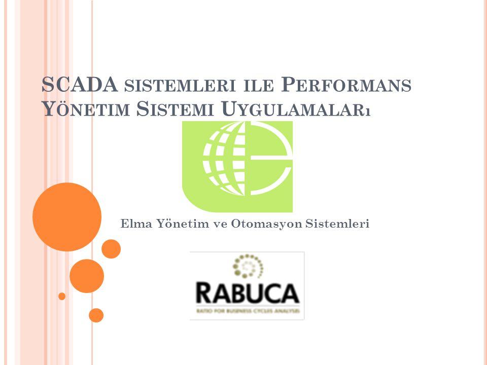 SCADA SISTEMLERI ILE P ERFORMANS Y ÖNETIM S ISTEMI U YGULAMALARı Elma Yönetim ve Otomasyon Sistemleri