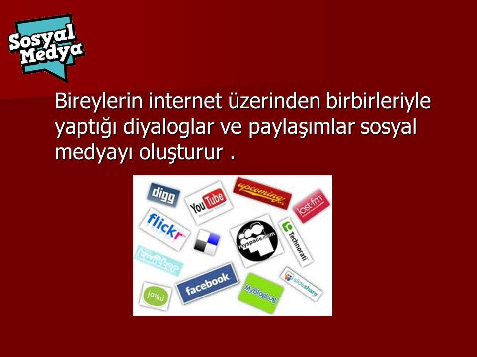 Sosyal ağlar, bloglar, mikro bloglar, anlık mesajlaşma programları, sohbet siteleri, forumlar gibi.
