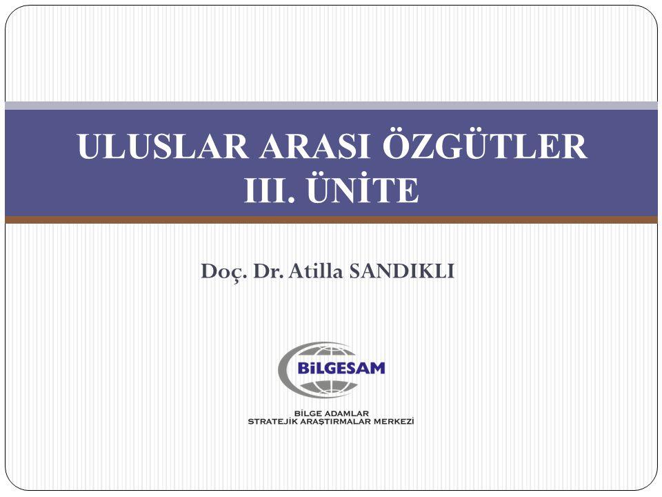 ULUSLAR ARASI ÖZGÜTLER III. ÜNİTE Doç. Dr. Atilla SANDIKLI