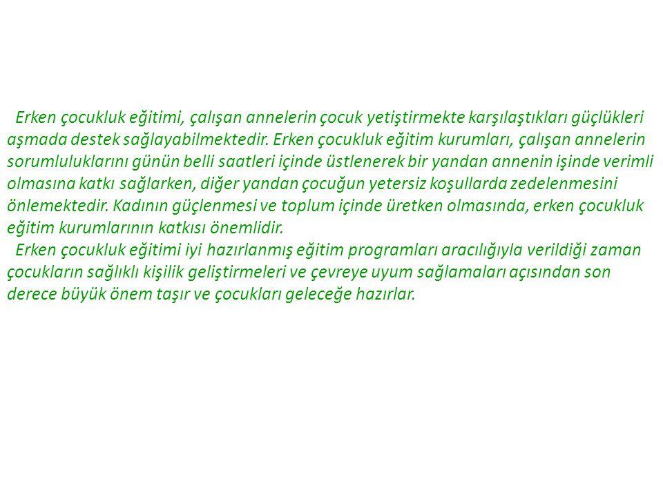 1.4.Dünyada ve Türkiye'de Erken Çocukluk Eğitimi 1.4.1.