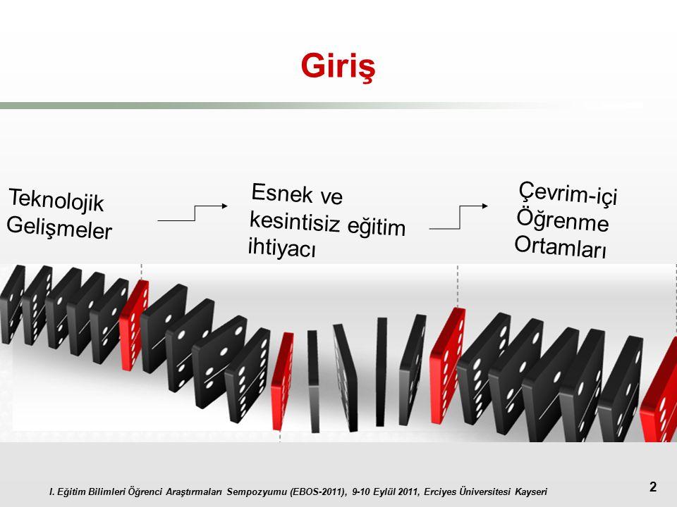 I. Eğitim Bilimleri Öğrenci Araştırmaları Sempozyumu (EBOS-2011), 9-10 Eylül 2011, Erciyes Üniversitesi Kayseri 2 Giriş Teknolojik Gelişmeler Esnek ve