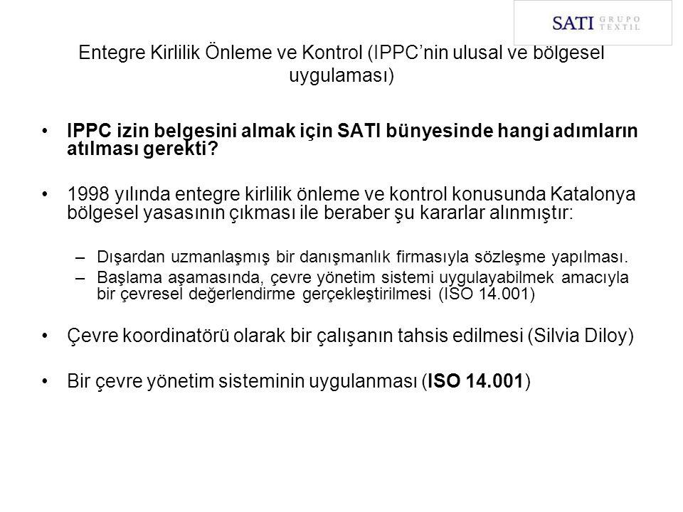 Entegre Kirlilik Önleme ve Kontrol (IPPC'nin ulusal ve bölgesel uygulaması) IPPC izin belgesini almak için SATI bünyesinde hangi adımların atılması ge