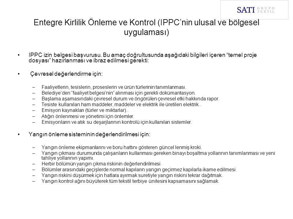 """IPPC izin belgesi başvurusu. Bu amaç doğrultusunda aşağıdaki bilgileri içeren """"temel proje dosyası"""" hazırlanması ve ibraz edilmesi gerekti: Çevresel d"""