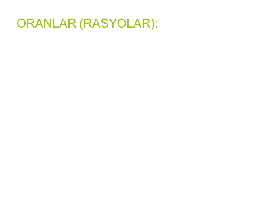 ORANLAR (RASYOLAR):