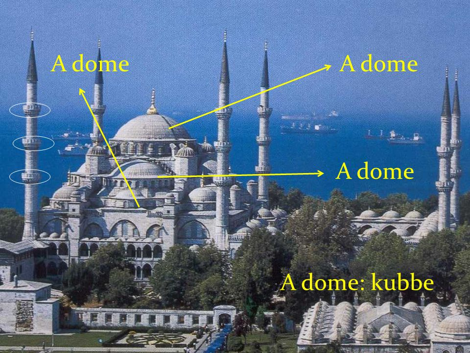 The Blue Mosque is located OPPOSITE the Ayasofya.