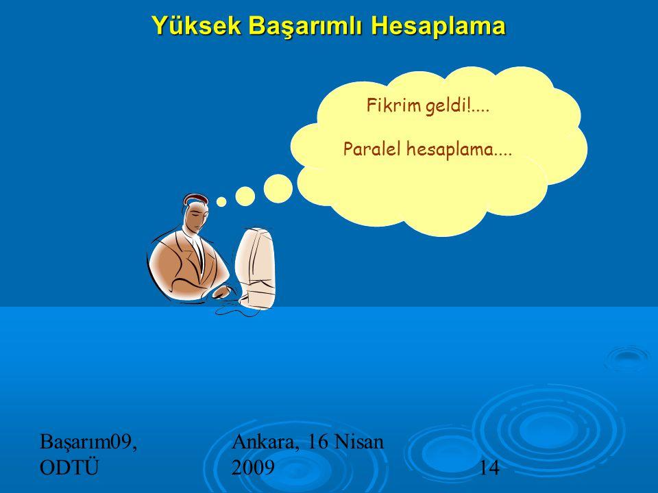 Başarım09, ODTÜ Ankara, 16 Nisan 200914 Yüksek Başarımlı Hesaplama Fikrim geldi!....