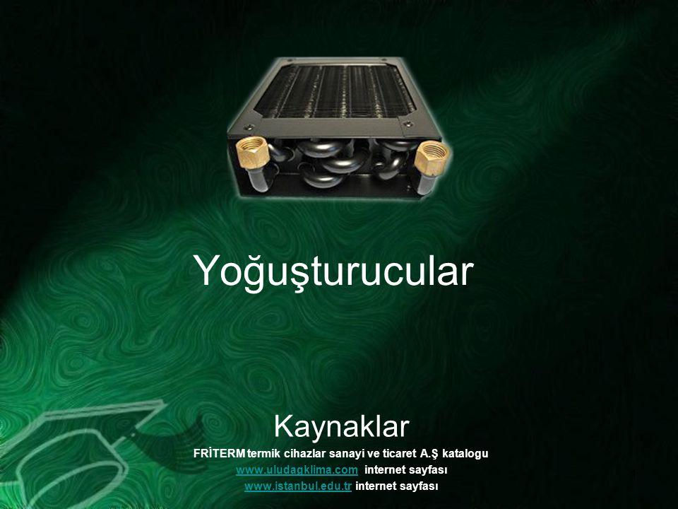 1 Yoğuşturucular Kaynaklar FRİTERM termik cihazlar sanayi ve ticaret A.Ş katalogu www.uludagklima.comwww.uludagklima.com internet sayfası www.istanbul