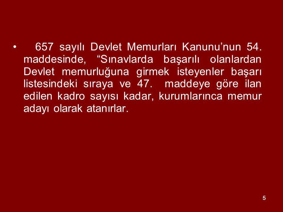 5 657 sayılı Devlet Memurları Kanunu'nun 54.