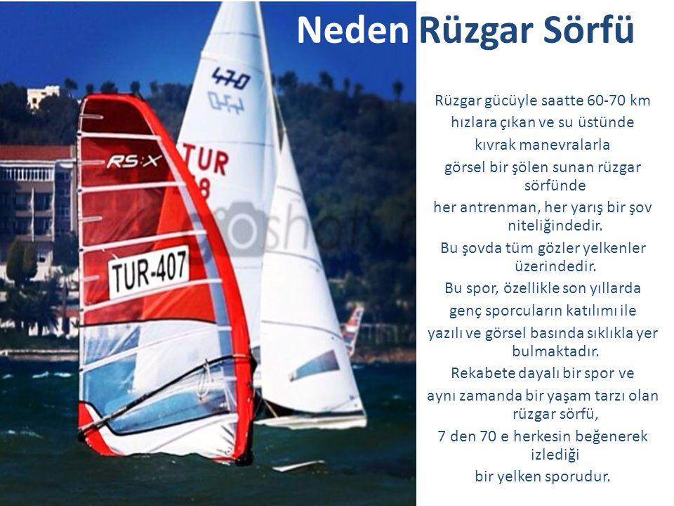 İl Birinciliği yarışları sonunda Türkiye Yelken Federasyonu Başkanı'ndan ikincilik madalyasını alırken Türk Balıkadamlar Kulübü Sörf Takımı, dereceye giren arkadaşları ile sevinçlerini paylaşırken
