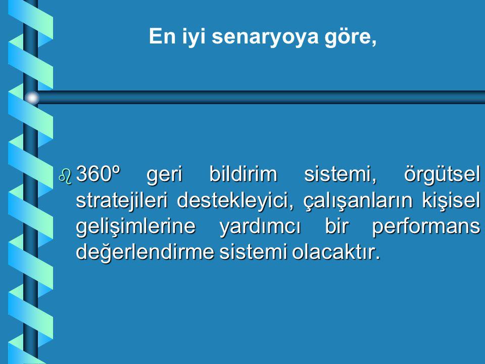b 360º geri bildirim sistemi, örgütsel stratejileri destekleyici, çalışanların kişisel gelişimlerine yardımcı bir performans değerlendirme sistemi ola