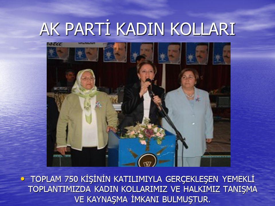 AK PARTİ KADIN KOLLARI Adalet ve Kalkınma Partisi İskenderun İlçe Teşkilatı Kadın Kolları Başkanı Filiz Özçörekçi önderliğindeki hanımlar, yaşanan sel felaketinden dolayı mağdur olan vatandaşları ziyaret ettiler.