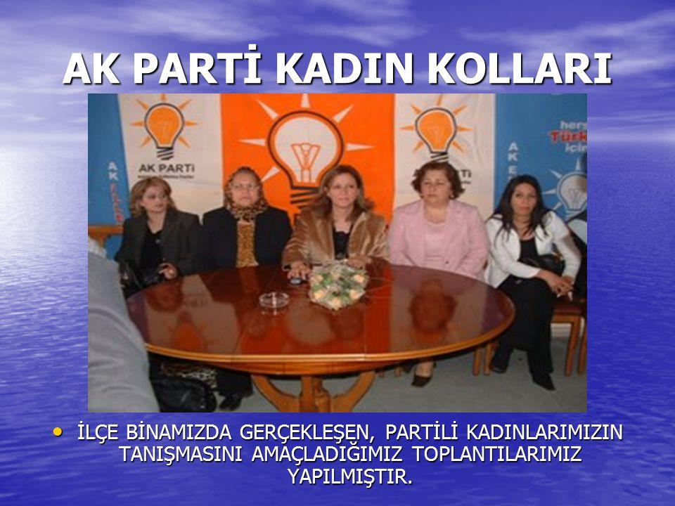 AK PARTİ KADIN KOLLARI Adalet ve Kalkınma Partisi İskenderun İlçe Kadın Kolları, Başkan Filiz Özçörekçi önderliğinde sel felaketinde mağdur kalan insanlara giyim yardımında bulundu.