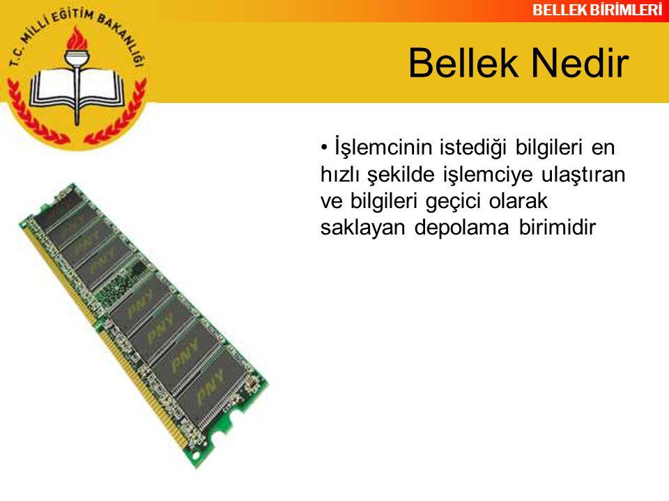 BELLEK BİRİMLERİ DIMM modüllerde pin sayısı 168 tir.