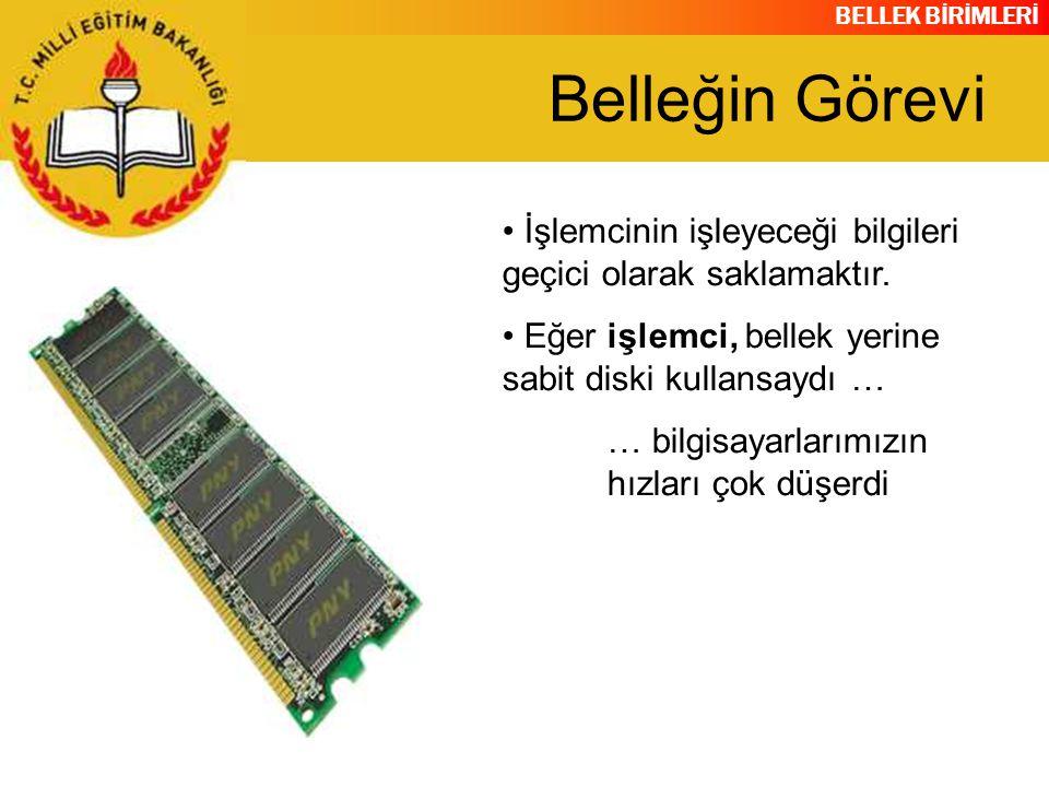 BELLEK BİRİMLERİ Bellek