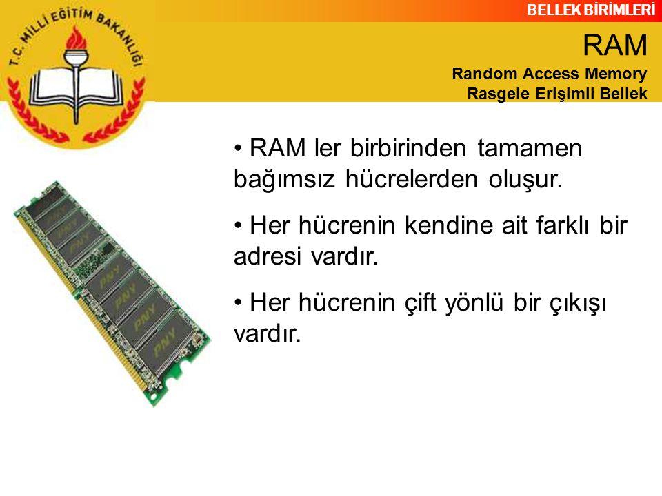 BELLEK BİRİMLERİ SIMM modüller, DIMM modüllere göre daha eski teknolojiye sahiptirler ve daha küçüktürler.