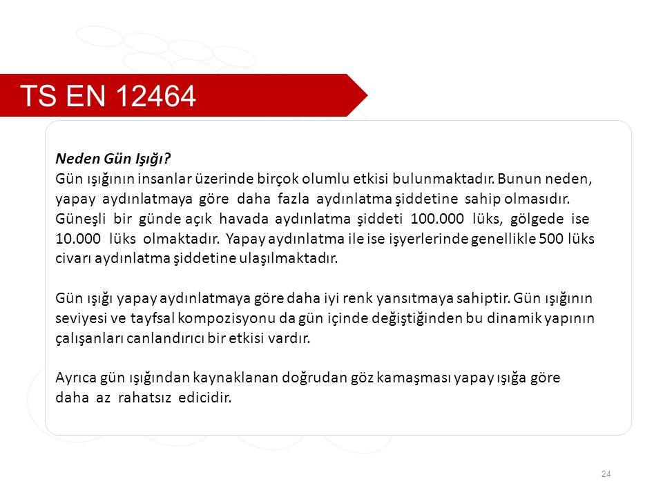TS EN 12464 24 Neden Gün Işığı.Gün ışığının insanlar üzerinde birçok olumlu etkisi bulunmaktadır.