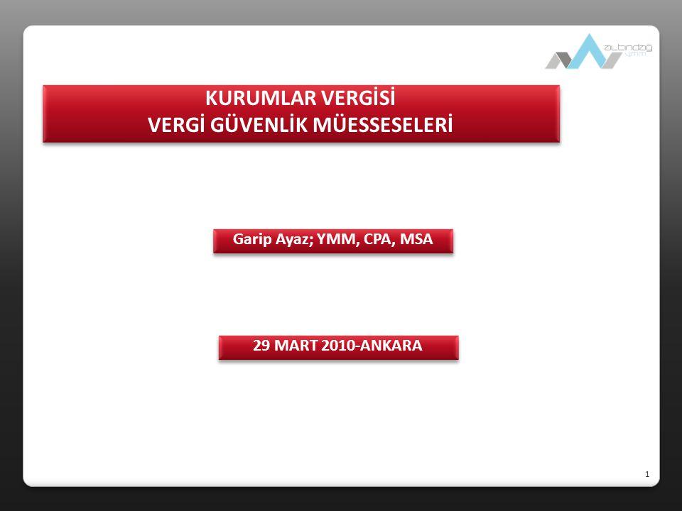  KV VERGİ GÜVENLİK MÜESSESELERİ  KONTROL EDİLEN YABANCI KURUM (KEYK)-CONTROLLED FOREIGN COMPANY (CFC) (5520 sayılı KVK md.7)  ÖRTÜLÜ SERMAYE (THIN CAPITALISATION) (5520 sayılı KVK md.12, 11/1-b)  TRANSFER FİYATLANDIRMASI YOLUYLA ÖRTÜLÜ KAZANÇ DAĞITIMI (DISGUISED PROFIT DISTRIBUTION TROUGH TRANSFER PRICING) (5520 sayılı KVK md.13, 11/1-c)  VERGİ CENNETLERİNE YAPILAN BELİRLİ ÖDEMELERDEN STOPAJ (TAX HAVENS) (5520 sayılı KVK md.30/7) VERGİ GÜVENLİK MÜESSESELERİ 2