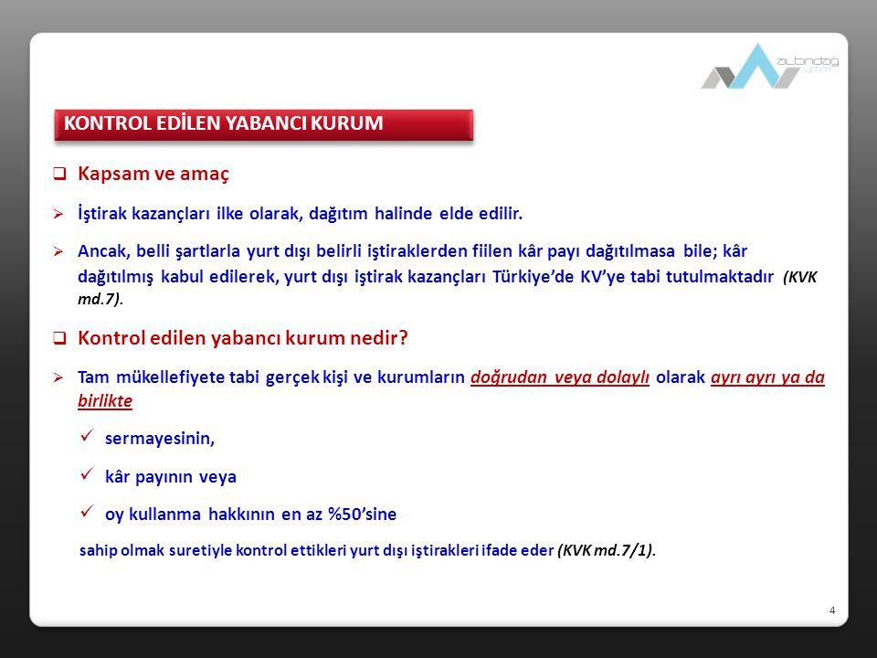  Transfer Fiyatlandırmasında Hazine Zararı (KVK md.13/7)  Tam mükellef kurumlar ile yabancı kurumların Türkiye deki işyeri veya daimi temsilcilerinin aralarında ilişkili kişi kapsamında gerçekleştirdikleri yurt içindeki işlemler nedeniyle kazancın örtülü olarak dağıtıldığının kabulü Hazine zararının doğması şartına bağlıdır (KVK md.13/7, 5766 sayılı Yasa'nın 21'inci maddesiyle eklenen fıkra).