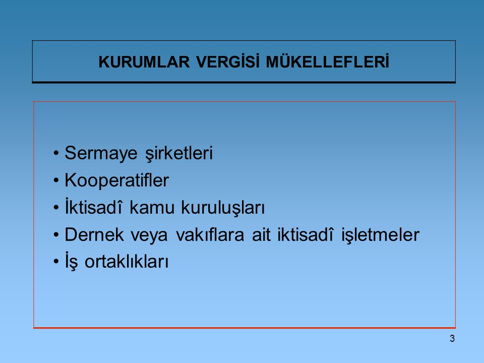 114 İSTİSNA KAZANÇLAR (VIII) Türkiye'de Kurulu Gayrimenkul Yatırım Fonları veya Ortaklıklarının Kazançları