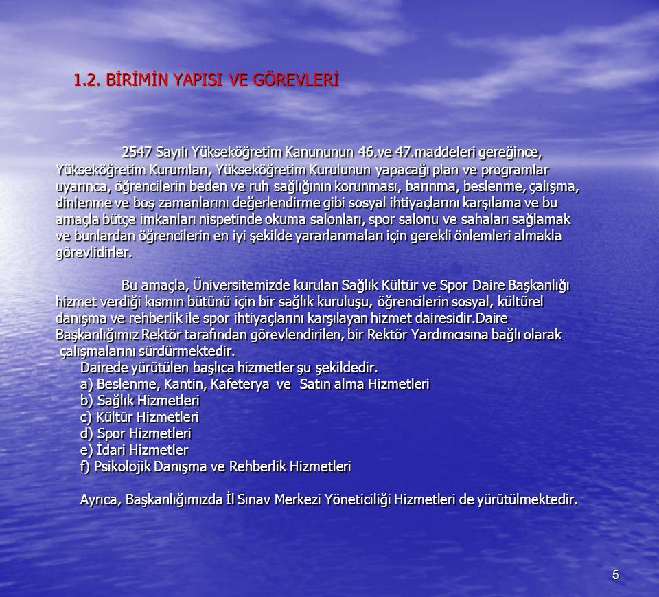 6 2.STRATEJİK PLANLAMA SÜRECİ 2.1.
