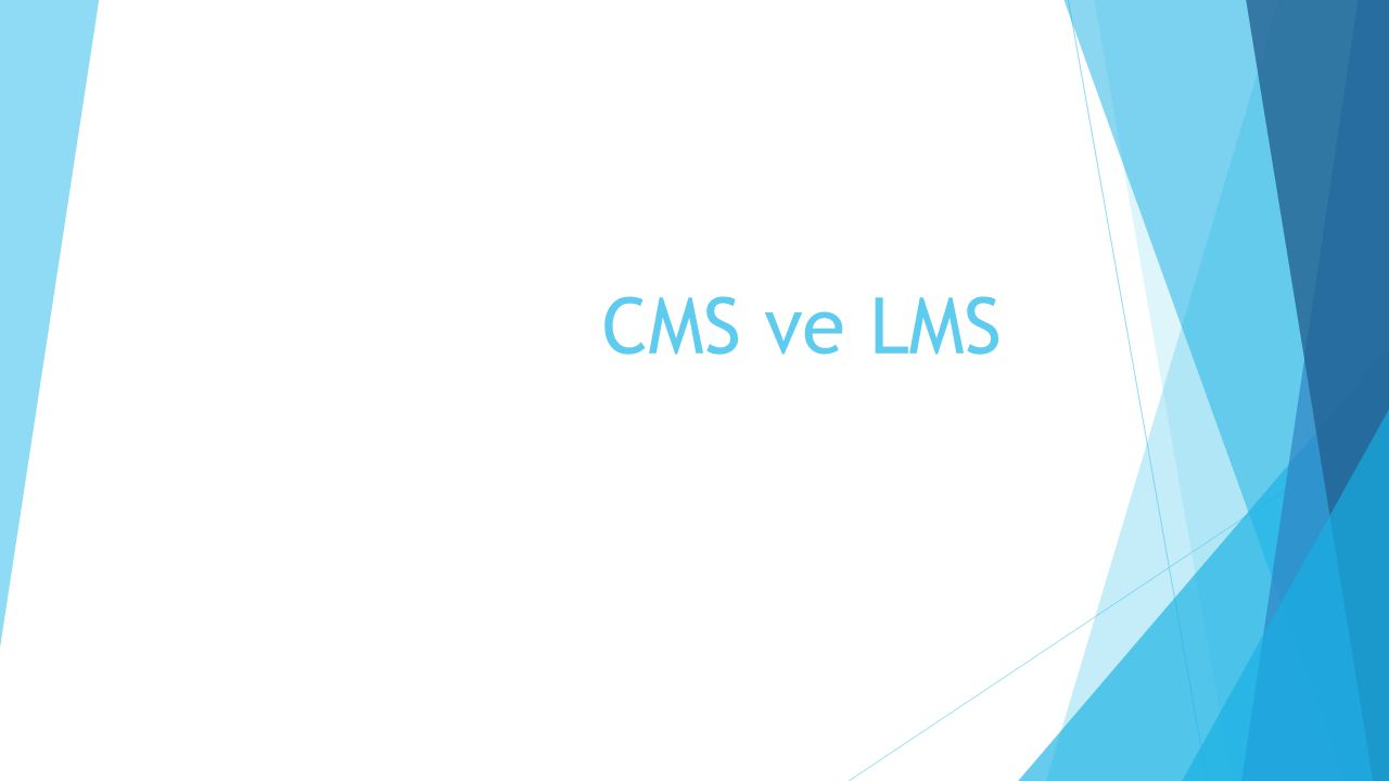  Aynı zamanda, Öğretim içeriklerinin yönetimini sağlayan, bunları dağıtan ve kaynakların öğrenenlere ulaşımını sağlayıp sistematik bir yapı içinde olduğundan CMS' lerle birlikte de adı sıkça söz edilir.
