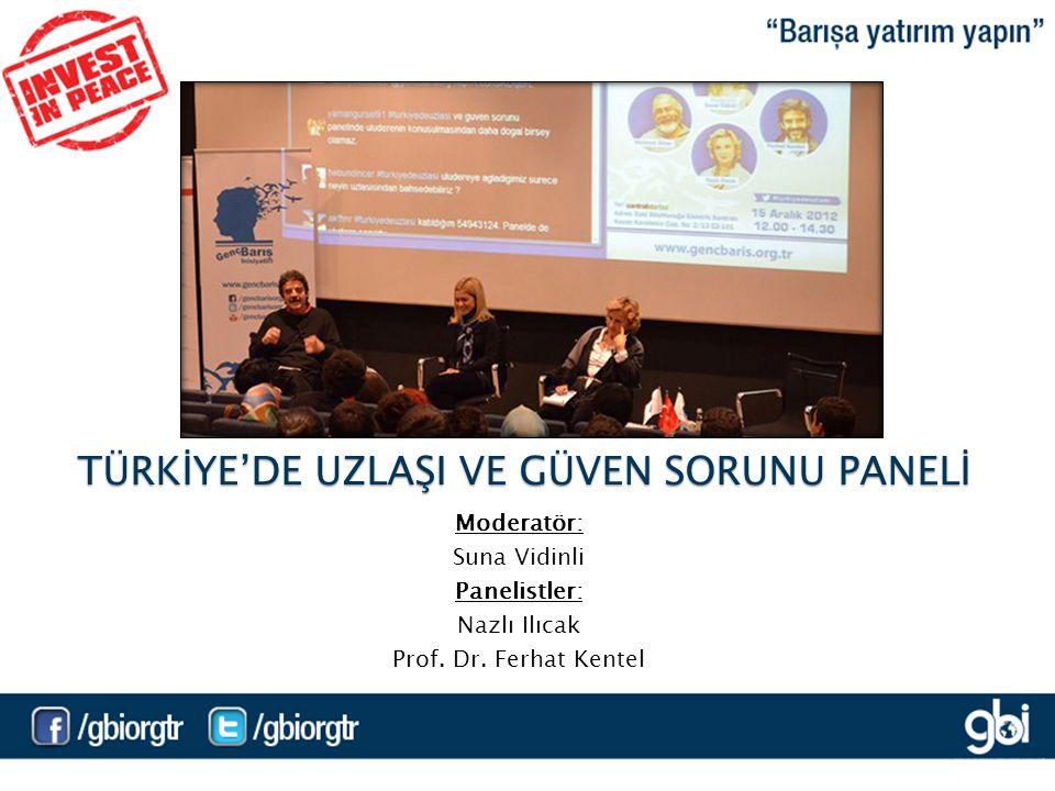 Moderatör: Suna Vidinli Panelistler: Nazlı Ilıcak Prof.