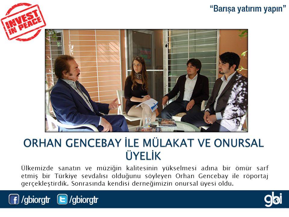 Ülkemizde sanatın ve müziğin kalitesinin yükselmesi adına bir ömür sarf etmiş bir Türkiye sevdalısı olduğunu söyleyen Orhan Gencebay ile röportaj gerçekleştirdik.