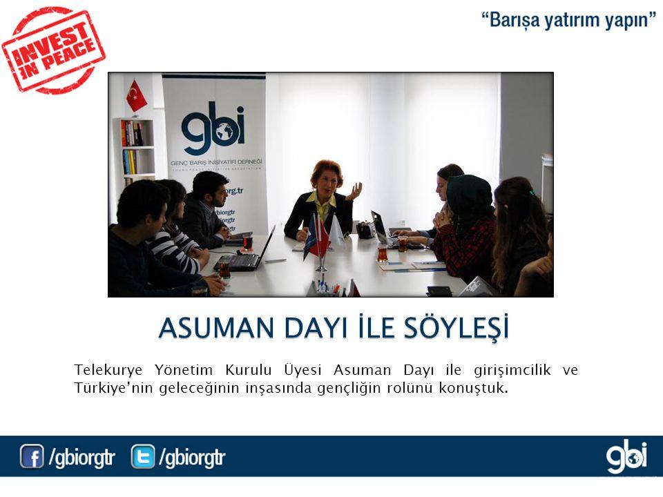 Telekurye Yönetim Kurulu Üyesi Asuman Dayı ile girişimcilik ve Türkiye'nin geleceğinin inşasında gençliğin rolünü konuştuk.