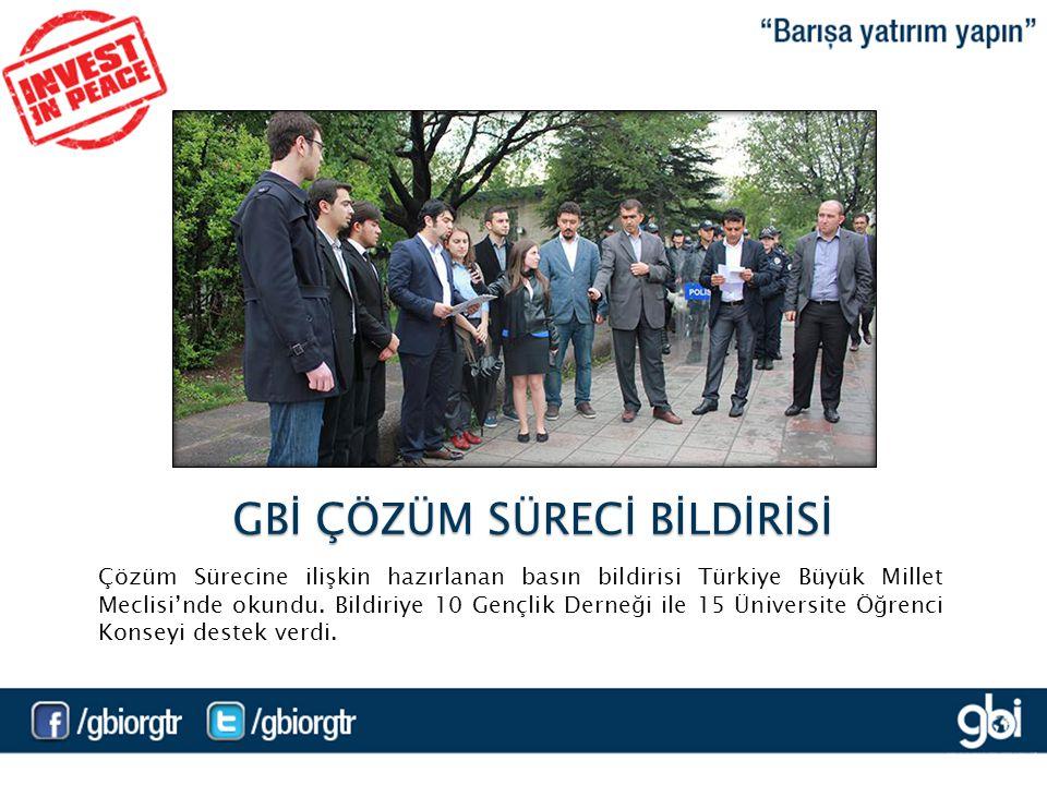 Çözüm Sürecine ilişkin hazırlanan basın bildirisi Türkiye Büyük Millet Meclisi'nde okundu.