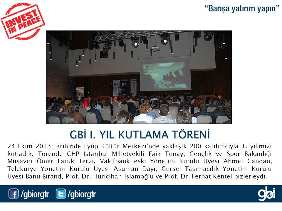 24 Ekim 2013 tarihinde Eyüp Kültür Merkezi'nde yaklaşık 200 katılımcıyla 1.