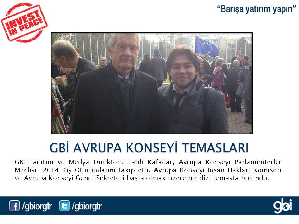 GBİ Tanıtım ve Medya Direktörü Fatih Kafadar, Avrupa Konseyi Parlamenterler Meclisi 2014 Kış Oturumlarını takip etti.