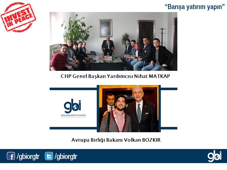 CHP Genel Başkan Yardımcısı Nihat MATKAP Avrupa Birliği Bakanı Volkan BOZKIR