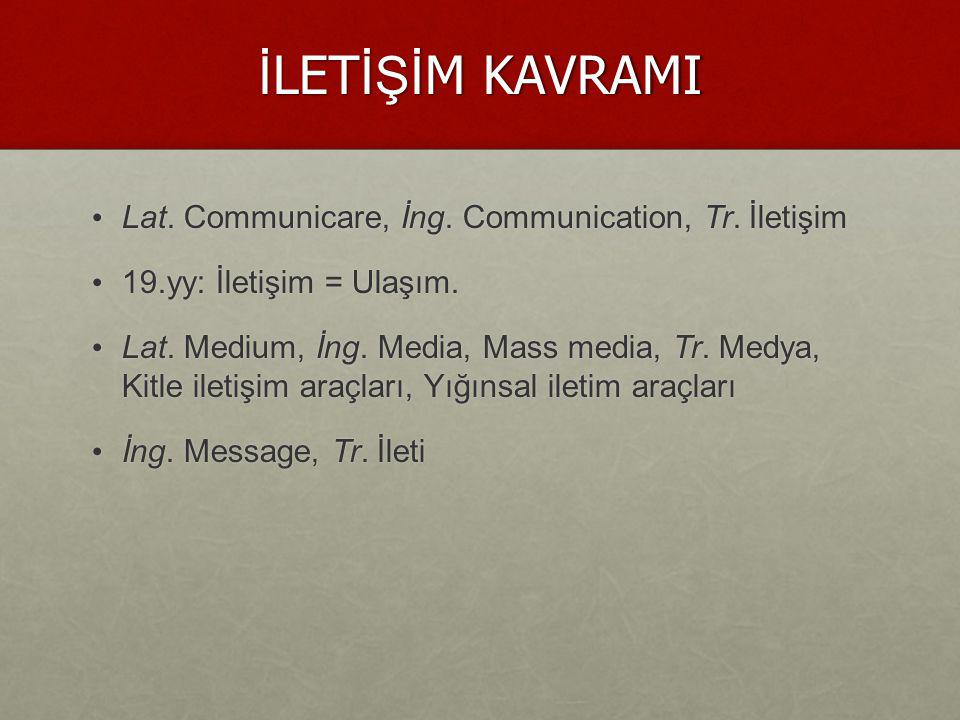 İ LET İŞİ M İ N TANIMI İletişim; bilgi, duygu, düşünce ve davranışların aktarılması sürecidir .