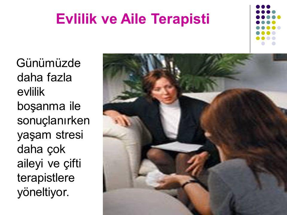 Evlilik ve Aile Terapisti Günümüzde daha fazla evlilik boşanma ile sonuçlanırken yaşam stresi daha çok aileyi ve çifti terapistlere yöneltiyor.