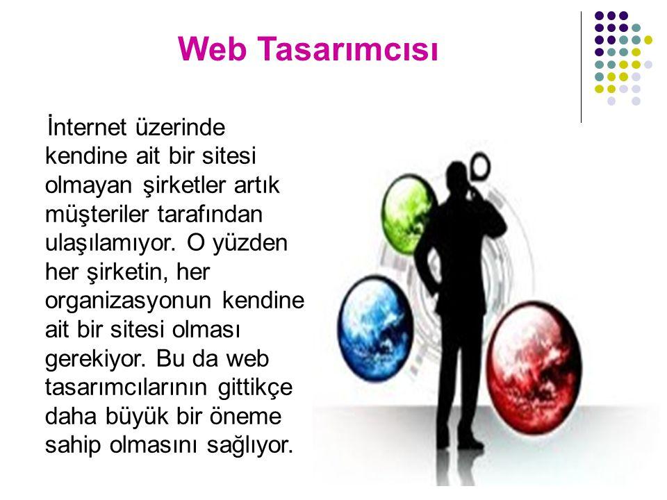 Web Tasarımcısı İnternet üzerinde kendine ait bir sitesi olmayan şirketler artık müşteriler tarafından ulaşılamıyor.