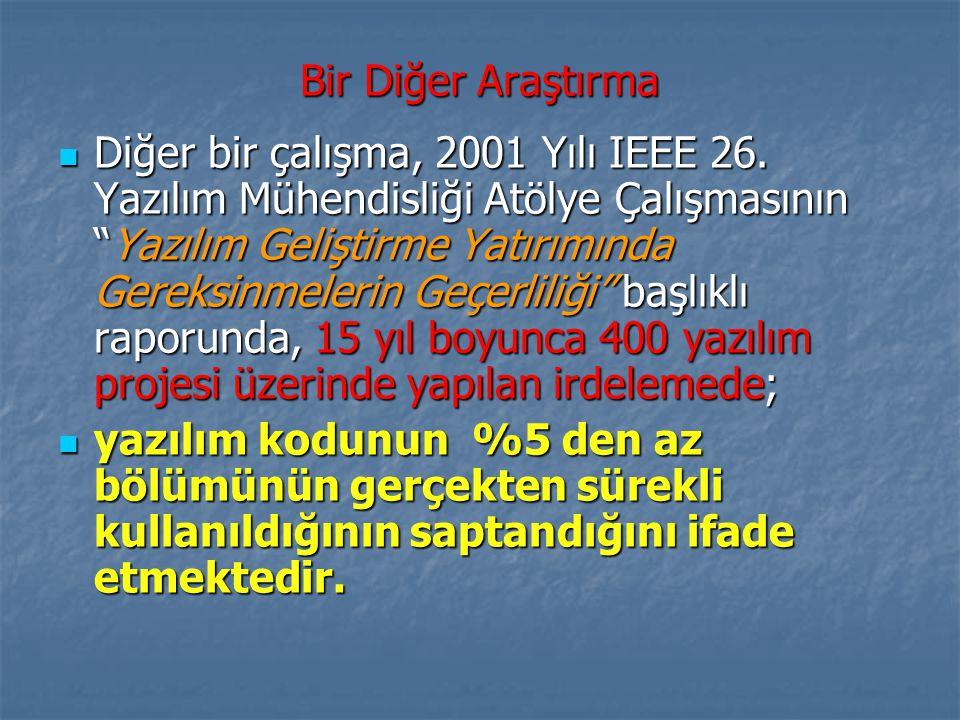 Bir Diğer Araştırma Diğer bir çalışma, 2001 Yılı IEEE 26.