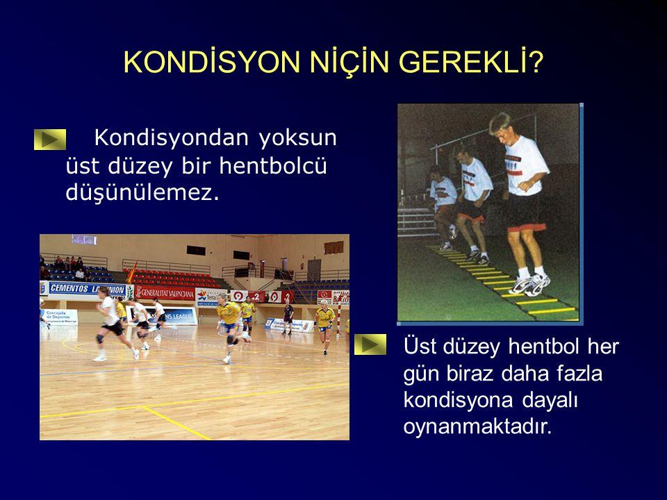 HENTBOLDE KONDİSYON NEDİR.Hentbolcünün en önemli performans durumu göstergelerinden birisidir.